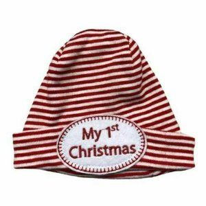 Mud Pie My 1st Christmas hat NEWBORN